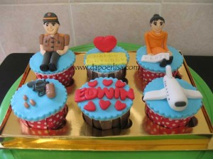 Cupcake ultah Edwin